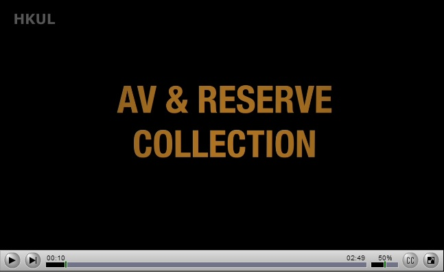 Welcome to AV & Reserve Collection