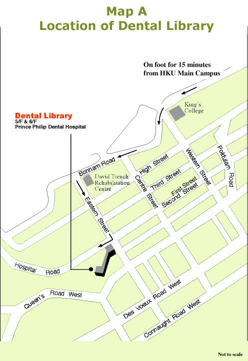Map of Dental Library