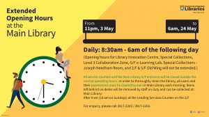2021 May-Main Library Extended Opening Hours