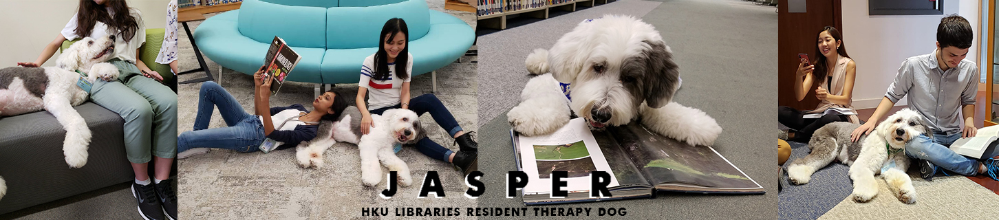 Banner for resident therapy dog