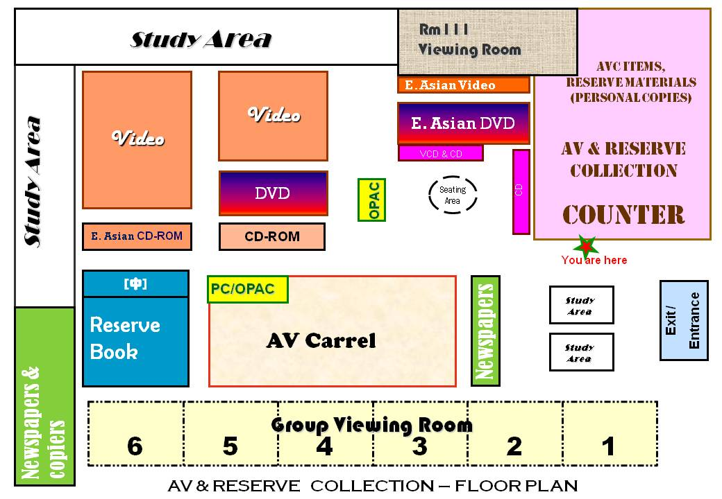 floor plan image for AV & Reserve Collection